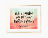 Heaven is cheering you on today, tomorrow & forever quote by Jeffrey R. Holland