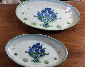 Set of M.A. Hadley serving Platters/Bowls