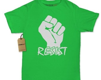Resist Raised Fist Protest Womens T-shirt