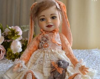 Teddy doll, OOAK, 14 in