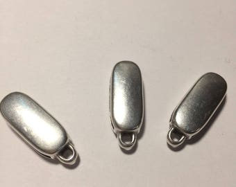 Lot 3 loops for 20 m leather zamac silver bail