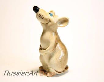 Mouse, rat porcelain figurine,  statue