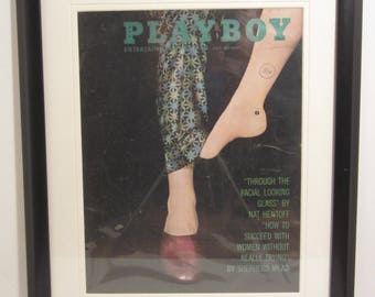 Vintage Playboy Magazine Cover Matted Framed : July 1962 -