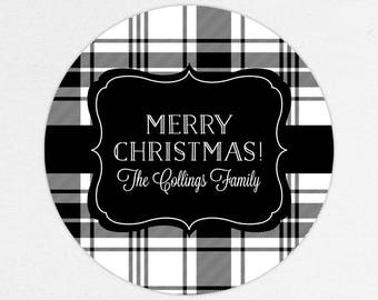 24 HOUR DIGITAL FILE, Buffalo Check Christmas Labels, Holiday Gift Stickers, Holiday Gift Tags, Christmas Gift Tags, Christmas Gift Labels