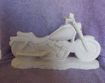 Ceramic Motorcycle - Bisque (Ready to Paint)