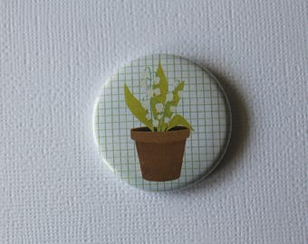 Pot Valley spring weather may 1st - flat Badge or PIN or magnet