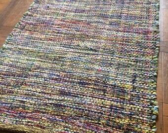Beautiful small Moroccan hand made bathroom mat/rug