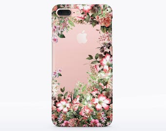 Flower Booming Case Floral Case iPhone 7 Case Rubber iPhone 6s Silicone Case Floral Case iPhone SE Case iPhone Cute Case phone case 5 CMCP74