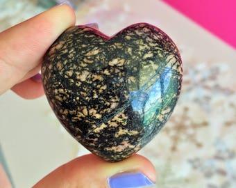 Black Crystal Heart / Girlfriend Gift