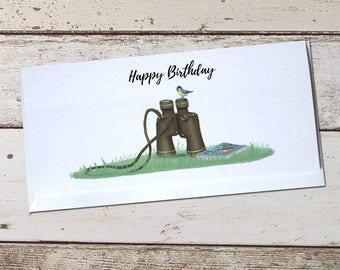 Birdwatcher Greetings Card - Happy Birthday, Father's Day, Thank You