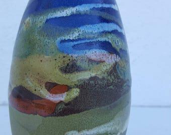 Vintage Colorful Decorative  Ceramic Vase .