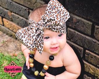 LEOPARD Headwrap, Fabric Headwrap, Baby Headwrap, Toddler Headwrap, Bow Headwrap, Cheetah headwrap, Newborn Headwrap, Turban Headwrap