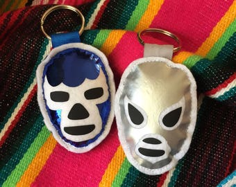 Lucha Libre keychain Blue Demon el Santo