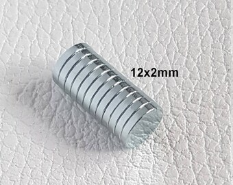 12x2mm - clasp for leather work very powerful round neodymium magnet