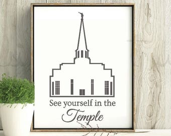 See yourself in the TEMPLE / Preston England temple / temple vinyl decal / temple mirror / LDS temple  / vinyl temple  / Preston, England