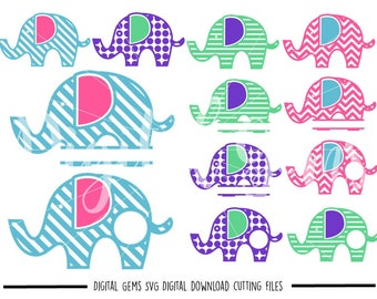 Elephant svg / dxf / eps / png files. Digital download. Compatible with Cricut and Silhouette machines. Small commercial use ok.