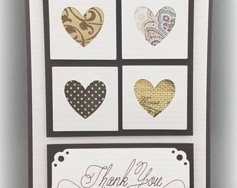 Handmade Thank You Card brown
