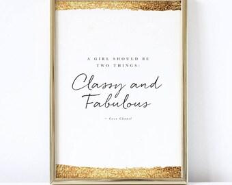 Be Classy & Fabulous Print