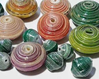 Fair Trade Paper Bead Mix 11