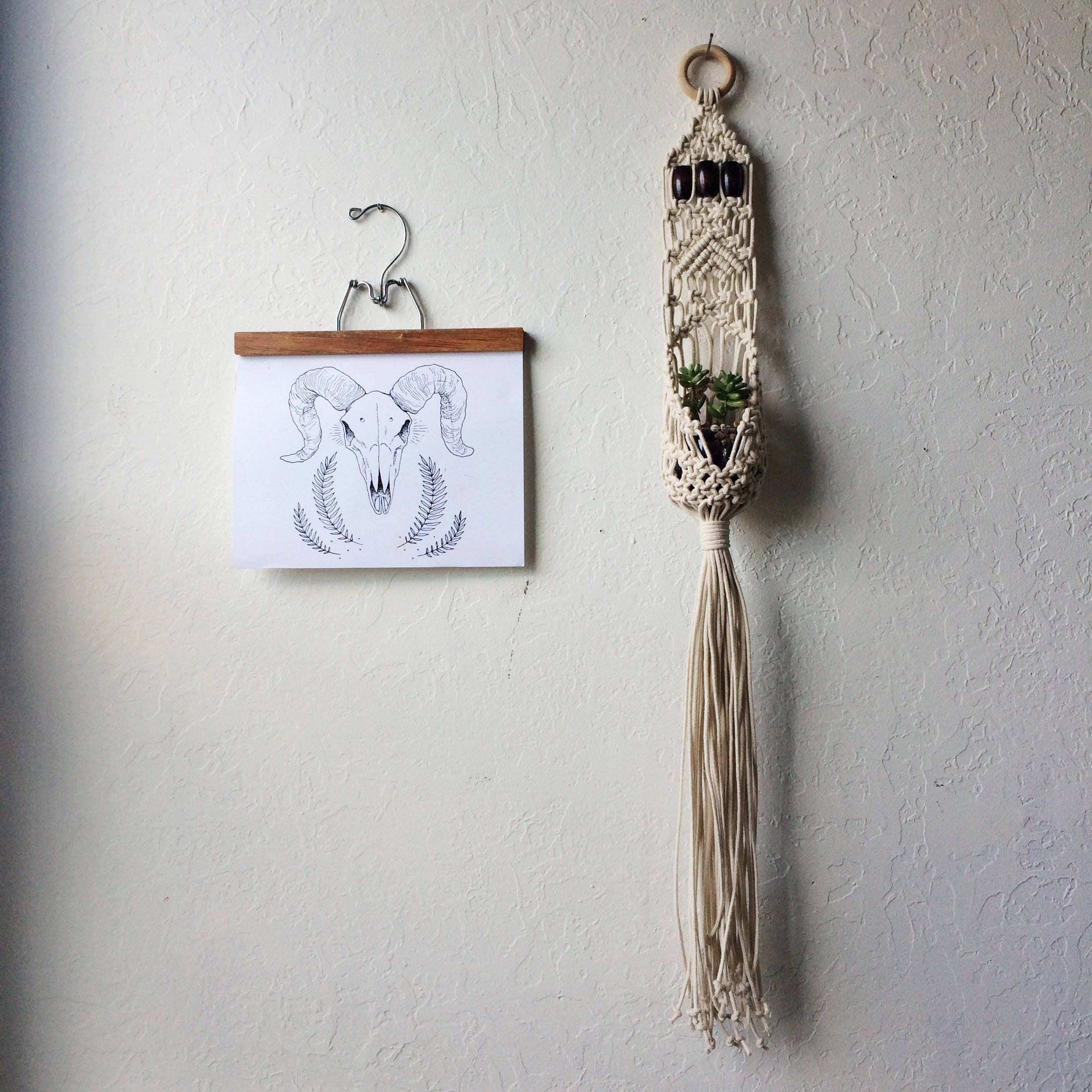 Macrame Hanging Plant Pouch Diy Kit For Beginners