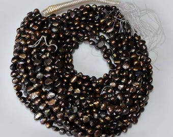 """Natural Cultured Freshwater Pearls Beads 1 strand 16"""" inch/7-9 mm Black Grey pearl beads Loose Gemstone Beads For Making Jewelry"""