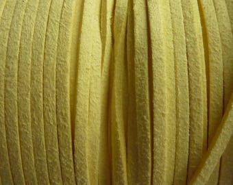1 meter yellow suede cord 2.5 mm P0250