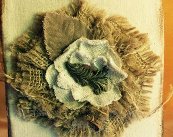 Canvas Burlap  Flower Journal - FREE SHIPPING