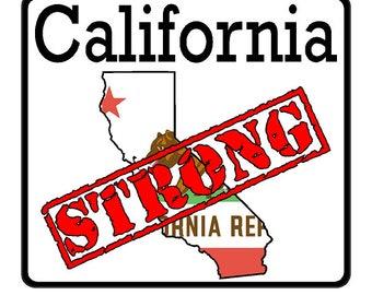 California State (K7) Strong Vinyl Decal Sticker Car/Truck Laptop/Netbook Window