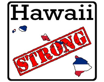 Hawaii State (K12) Strong Flag Vinyl Decal Sticker Car/Truck Laptop/Netbook Window