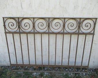 Antique Victorian Iron Gate Window Garden Fence Architectural Salvage Door #05