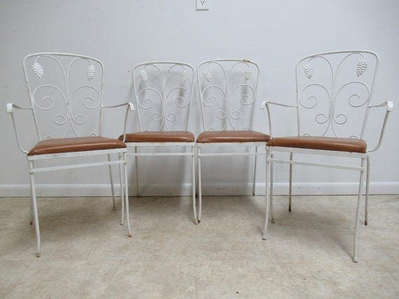 4 Vintage Mid Century Outdoor Patio Porch Dining Room Chairs