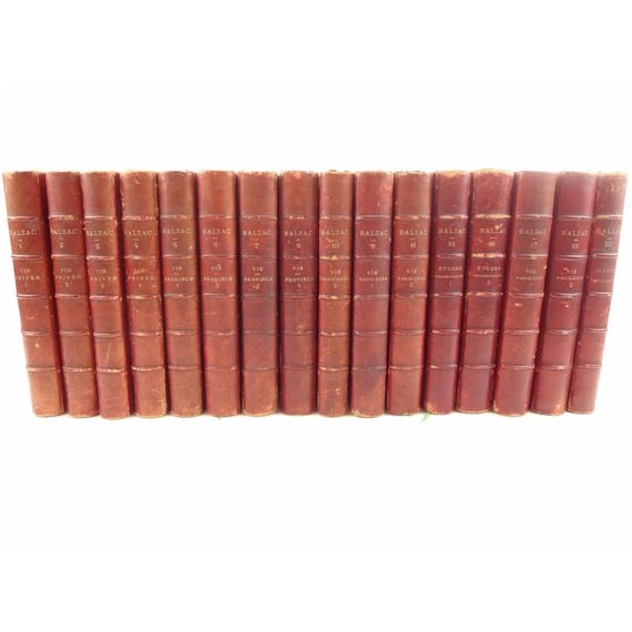 1869 Works of Honore de Balzac in French. Paris. 16 of 20 volumes.