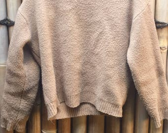 Vintage wool high neck jumper