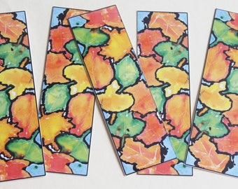 Fall Leaf Bookmarks ** Set of 5 **