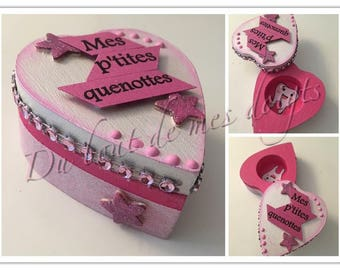 Pretty box for girl tooth