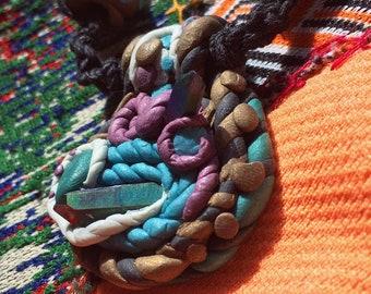 Rainbow Titanium Quartz Hemp Necklace