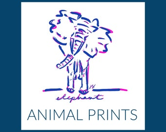ANIMALS (pink and red)