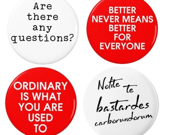 The Handmaids Tale - Badge - Set - Magnet - Pin - Books -  - Margaret Atwood