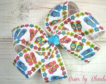 Summer Flip Flop Large basic bow!