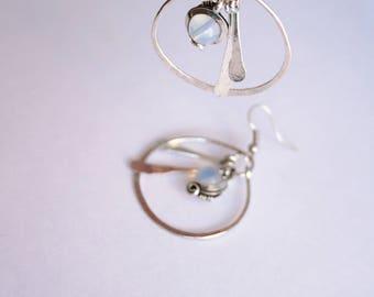 geometric ethnic earrings - hoop - Opal-