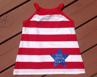 Red, White, and Cute - Fourth of July Dress