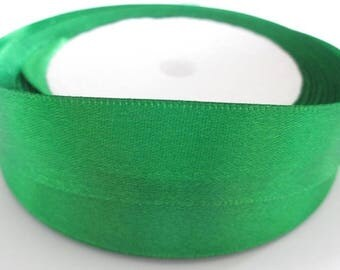5 m 20mm green colored satin ribbon