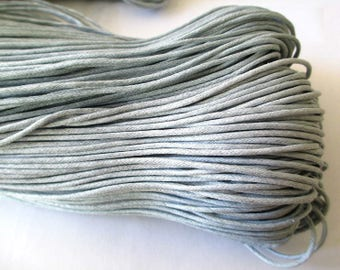 10 meters of thread waxed cotton gray 1.5 mm
