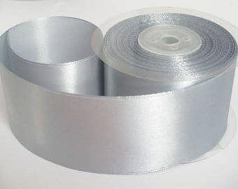 1 m 50mm gray satin ribbon
