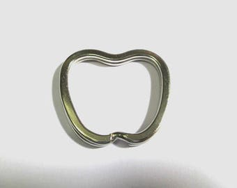 1 ring 32mm Apple shape silver keychain