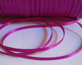 20 m fuchsia 3mm satin ribbon