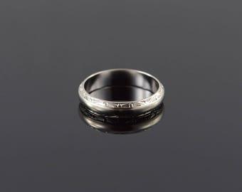 14k 4.8mm Fancy Engraved Wedding Band Ring Gold