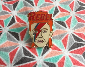 David Bowie Rebel Hat Pin