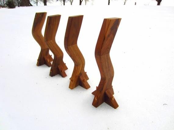 Captivating WALNUT Coffee Table LEGS/Wood Table Legs/Table Base/Handmade/Coffee Table  Modern/Rustic/Table Legs/Wooden Table Legs/Walnut Table/Furniture