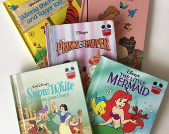 Disney Books / 5 Disney Books Cinderella, Winnie the Pooh, the Prince & the Pauper, and The Little Mermaid  Hardcover Children's Books